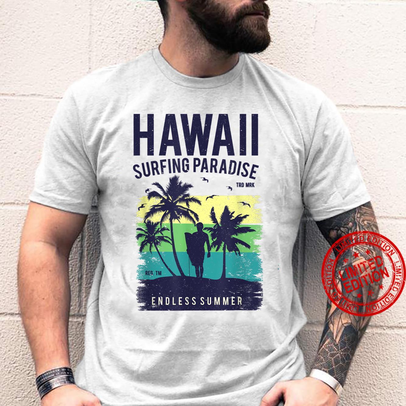 Aloha Hawaii Hawaiian Island Surfing Paradies Shirt
