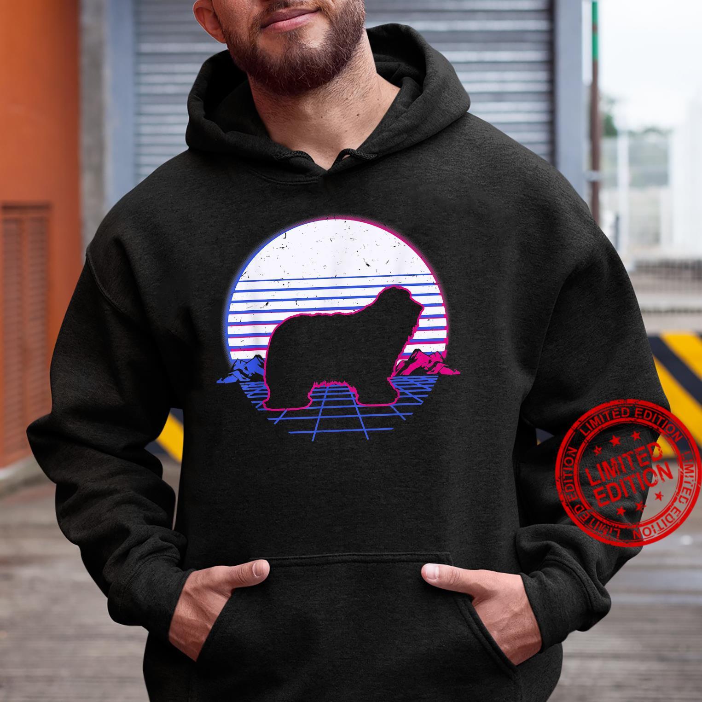 Bearded Collie Dog Puppy Retro Vintage Sunset Shirt hoodie