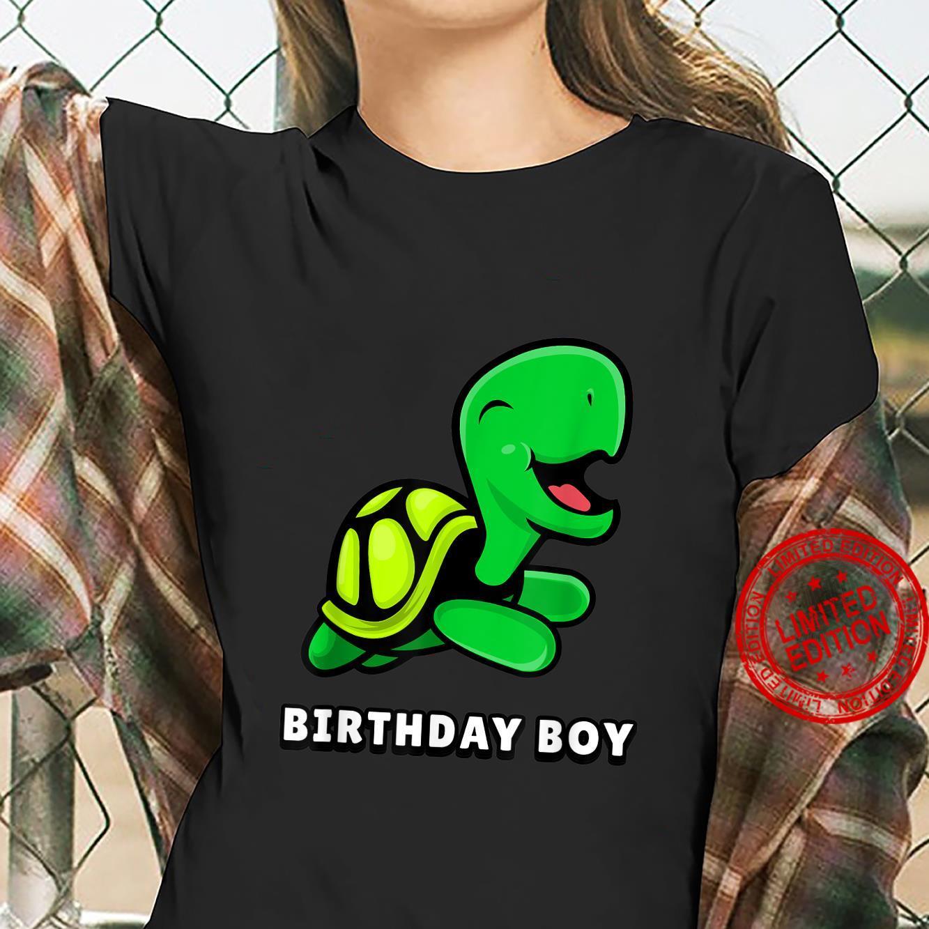 CUTE Turtle shirt. BIRTHDAY BOY Shirt ladies tee