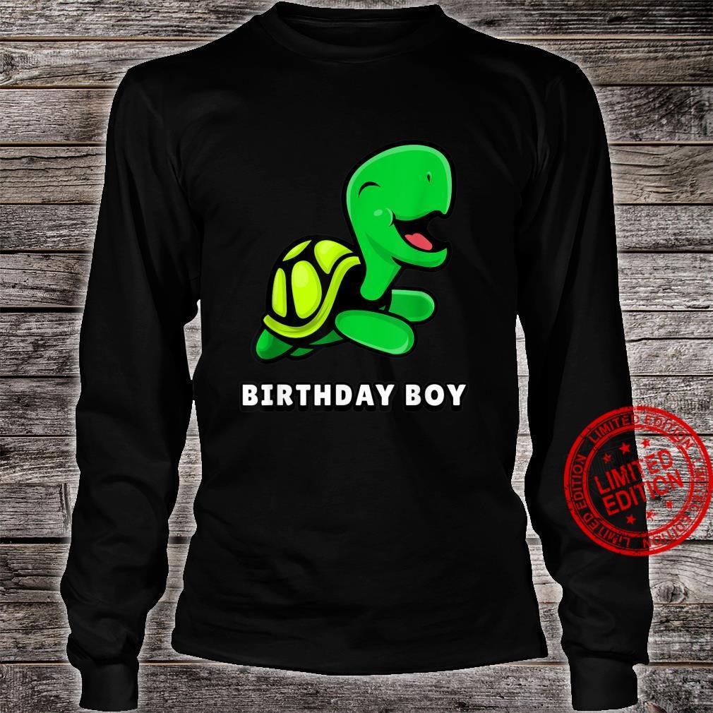 CUTE Turtle shirt. BIRTHDAY BOY Shirt long sleeved