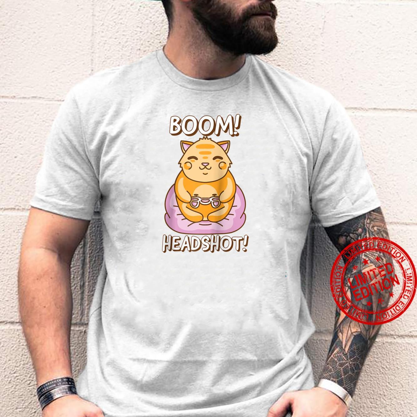 Cat Playing Video Games Sarcastic Kawaii Gamer Meme Shirt