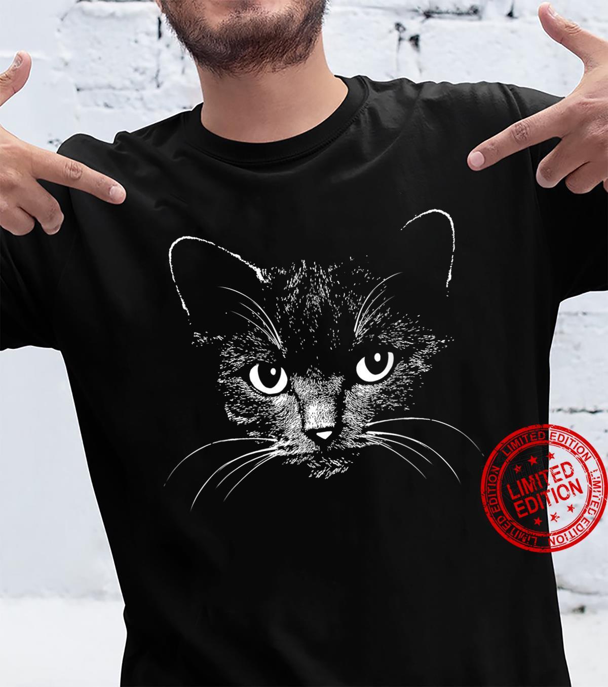 Cat head design animal illustration Shirt