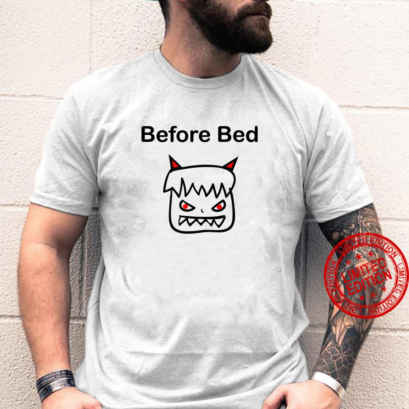 Funny Before Bed Devil Child Blockhead Color Shirt