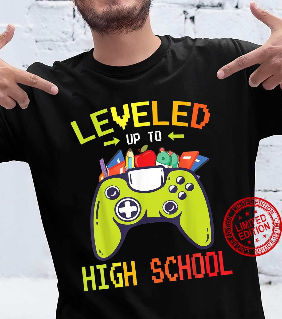 Gamer Student Happy Back To School Leveled Up To High School Shirt