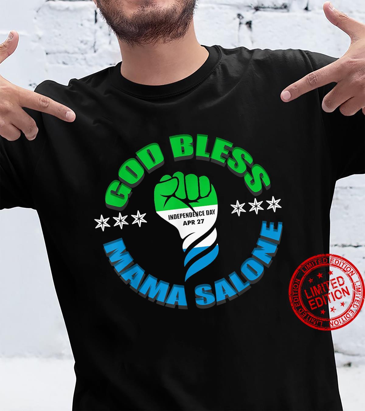 God Bless Mama Salone, Independence, Sierra Leone flag Shirt