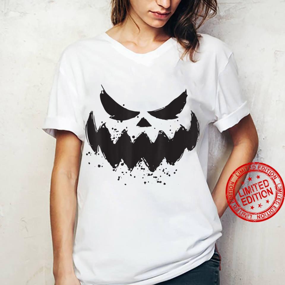 Halloween 2021 Horror Costume Pumpkin Scary Face Shirt ladies tee