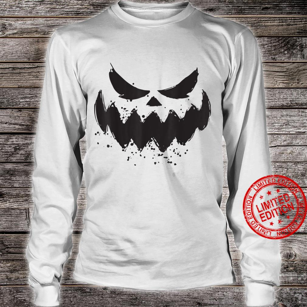 Halloween 2021 Horror Costume Pumpkin Scary Face Shirt long sleeved