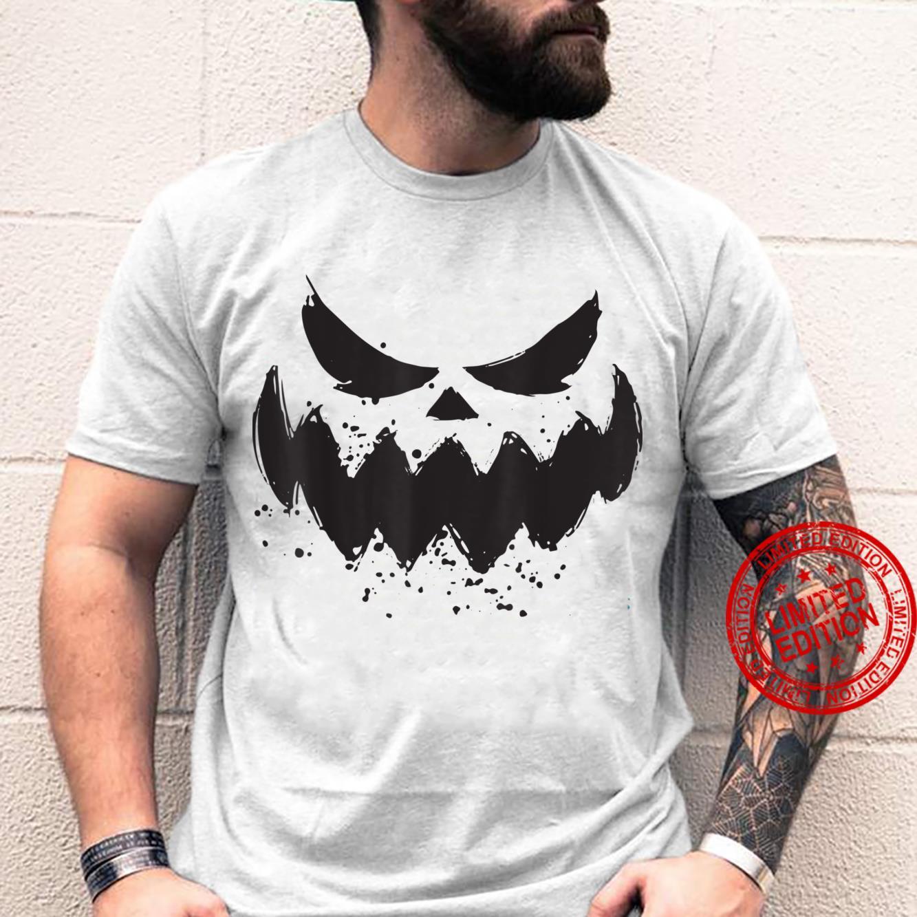 Halloween 2021 Horror Costume Pumpkin Scary Face Shirt