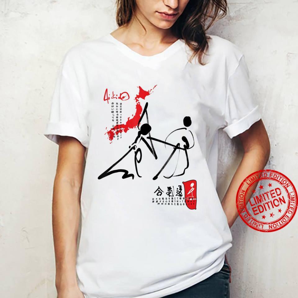 Kampfkunst Aikido JO mit Japan Karte Shirt ladies tee