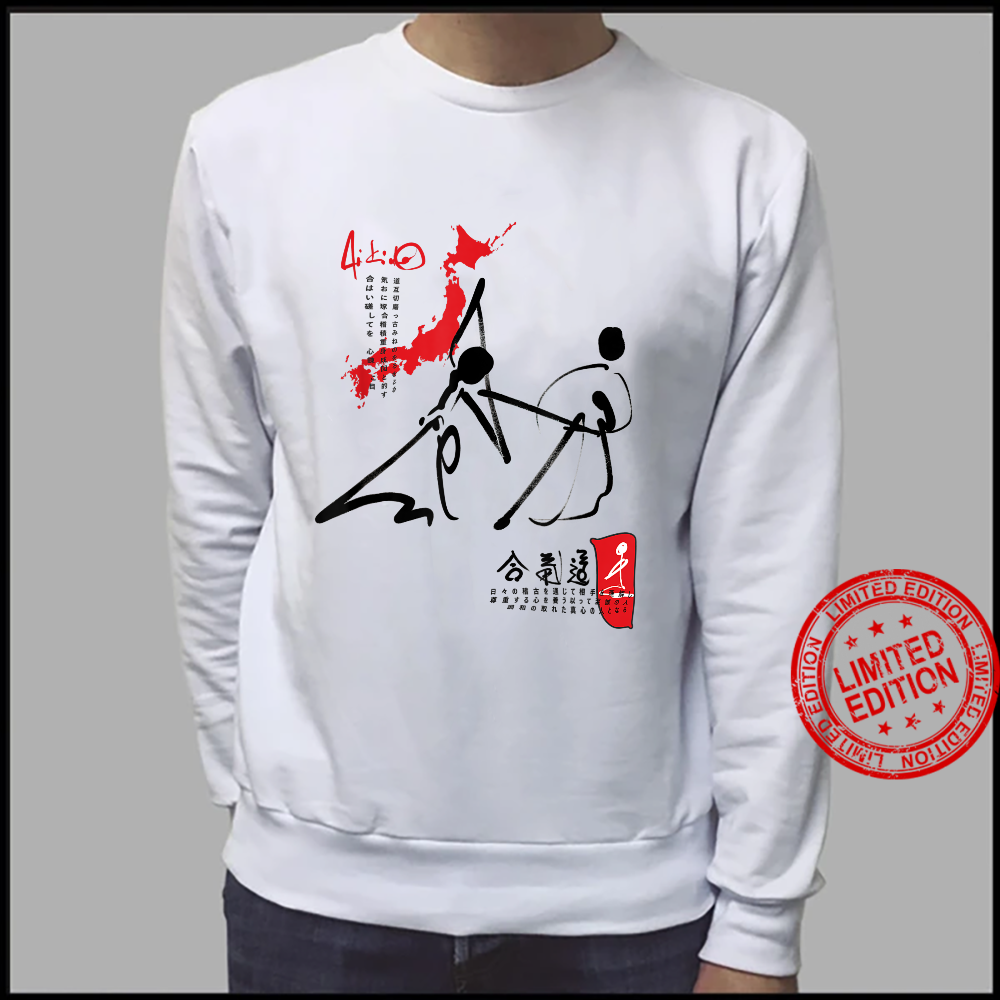 Kampfkunst Aikido JO mit Japan Karte Shirt sweater
