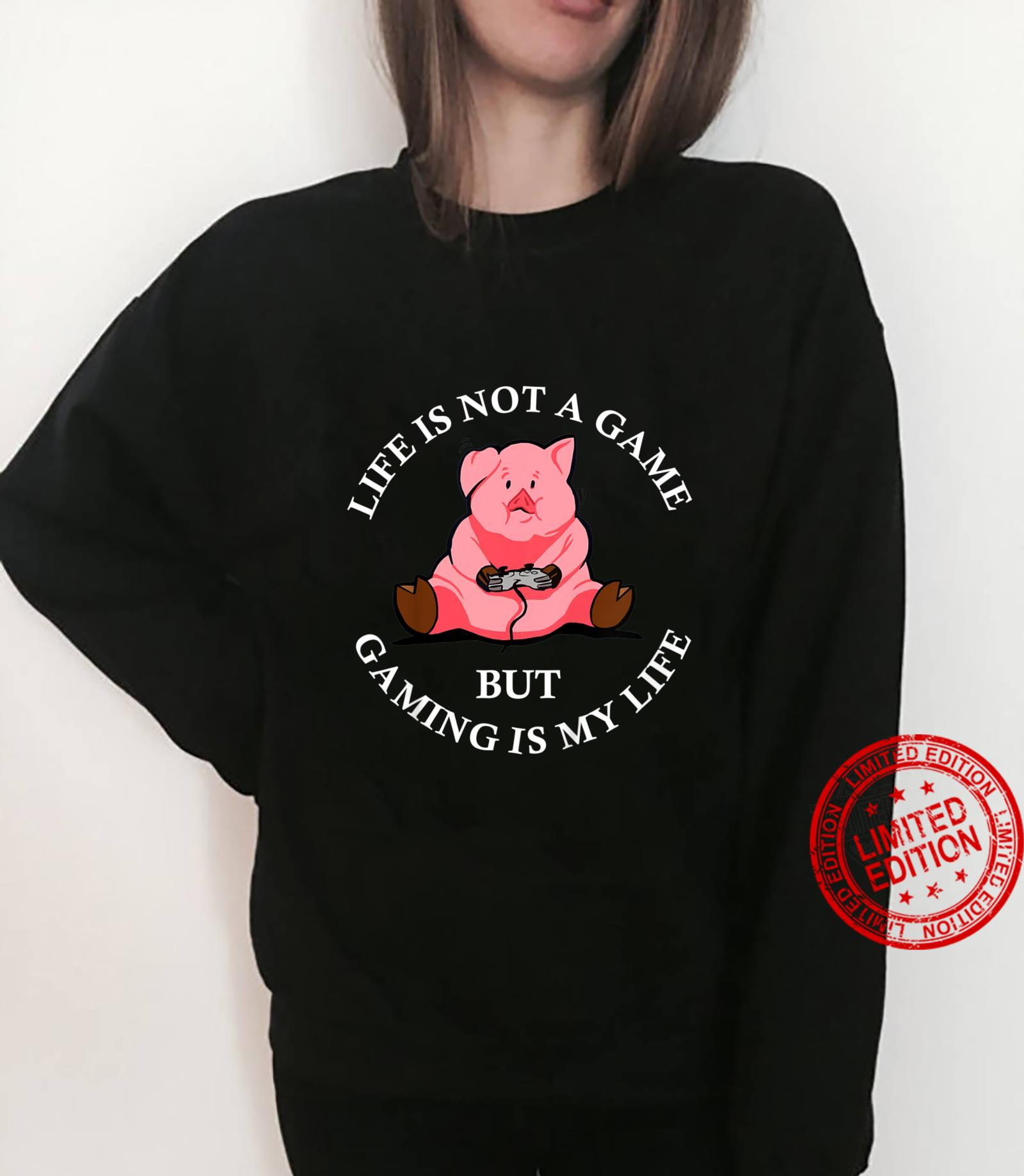 Kids Cute Pig Video Game Player Pork Gaming Videogame Shirt sweater