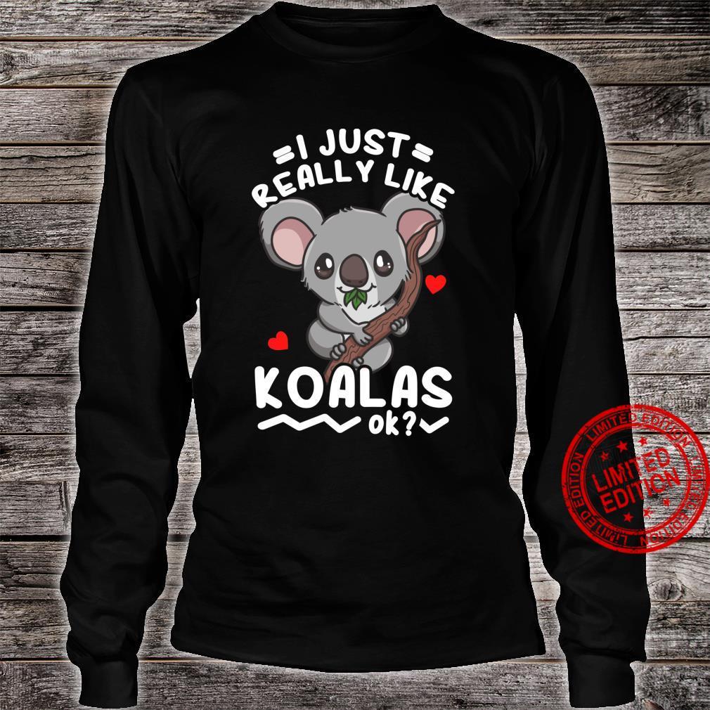 Koalas Koala Bear Shirt long sleeved