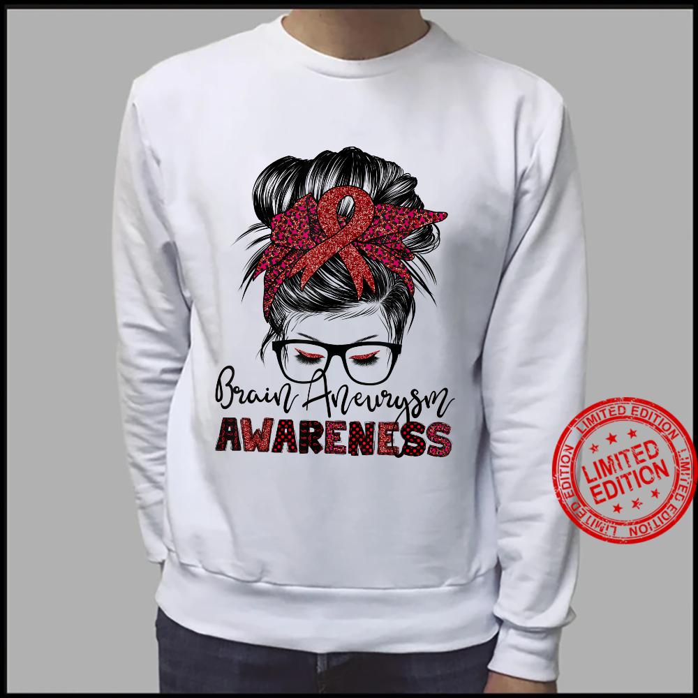 Messy Hair Bun Brain Aneurysm awareness Shirt sweater