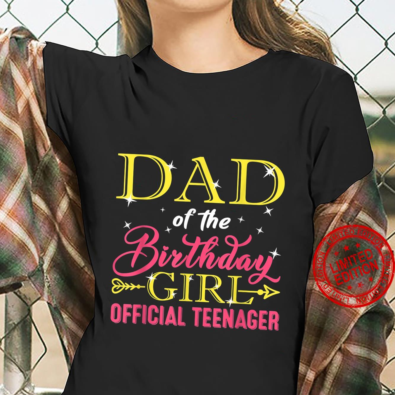 Official Teenager Dad Of The Birthday Boy 13 Yearsn Shirt ladies tee