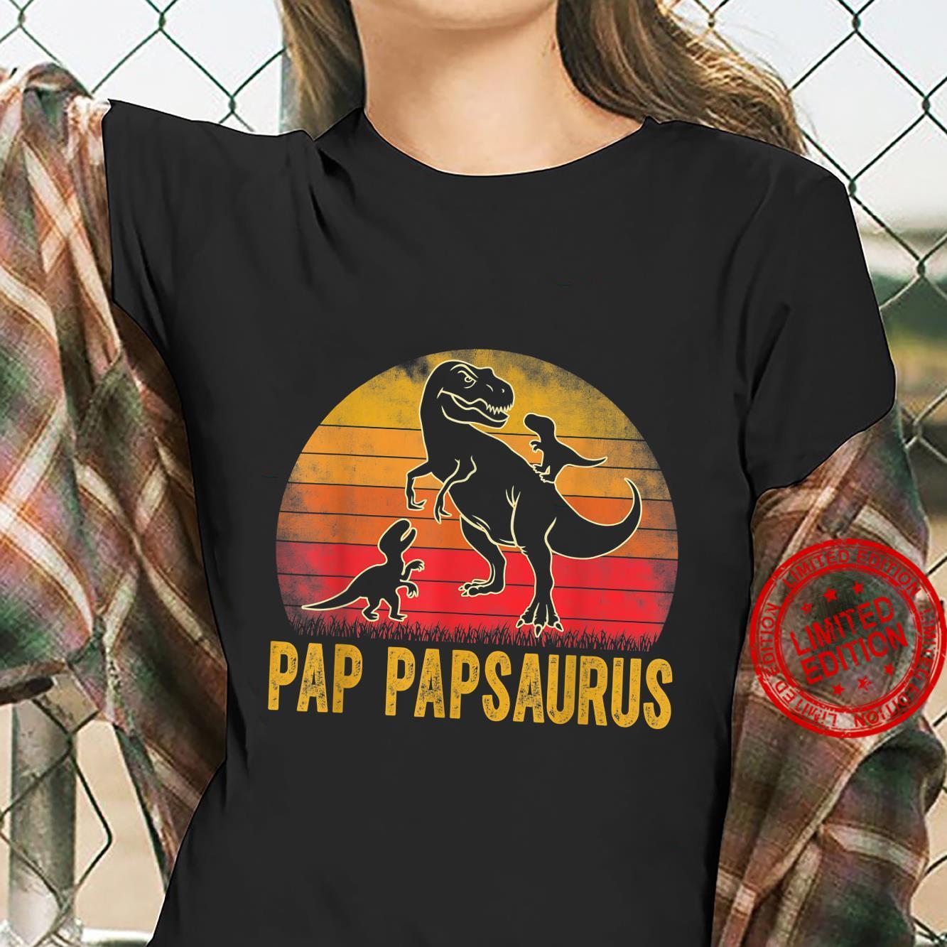 Pap Papsaurus TRex Dinosaur Matching Family Pap Pap Saurus Shirt ladies tee