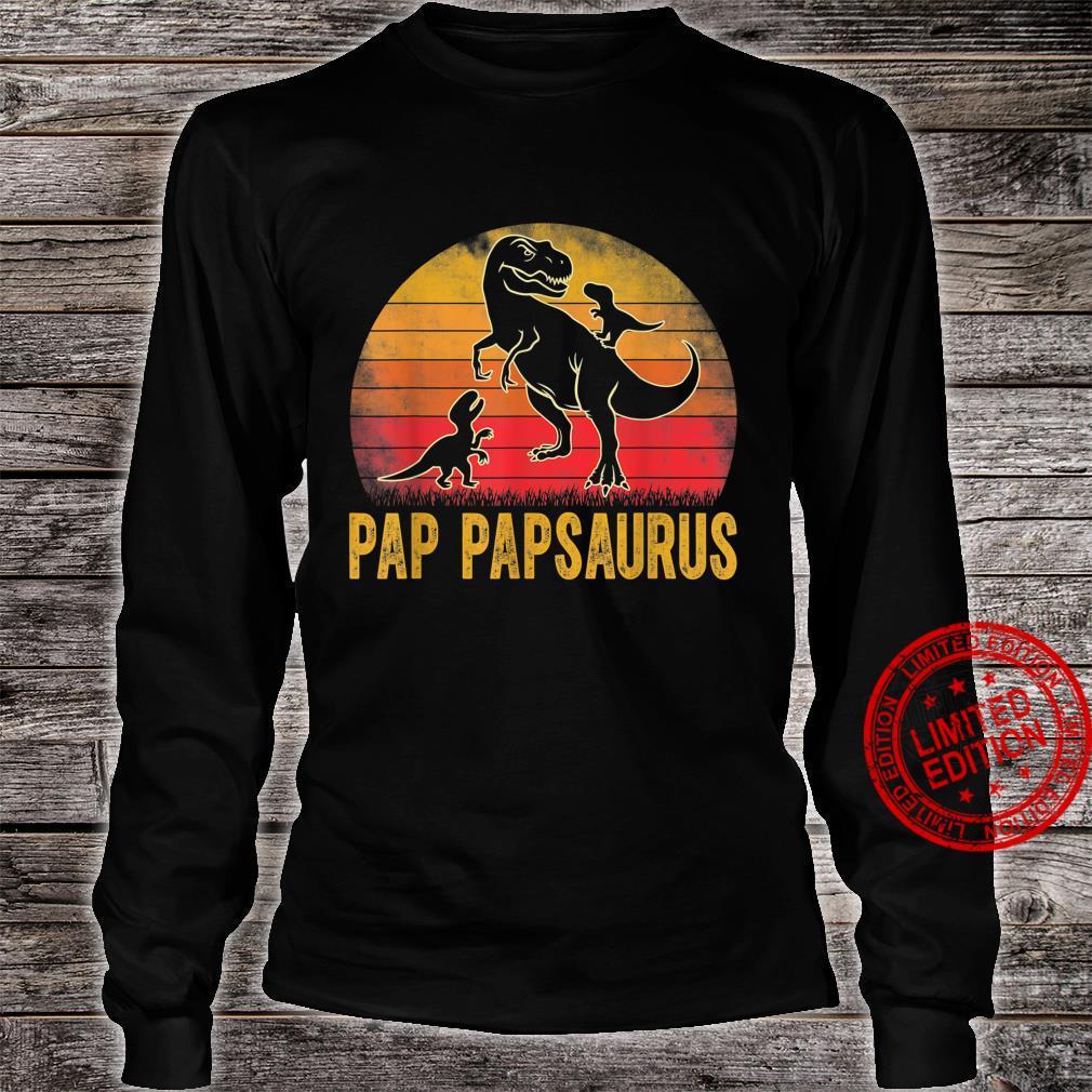 Pap Papsaurus TRex Dinosaur Matching Family Pap Pap Saurus Shirt long sleeved