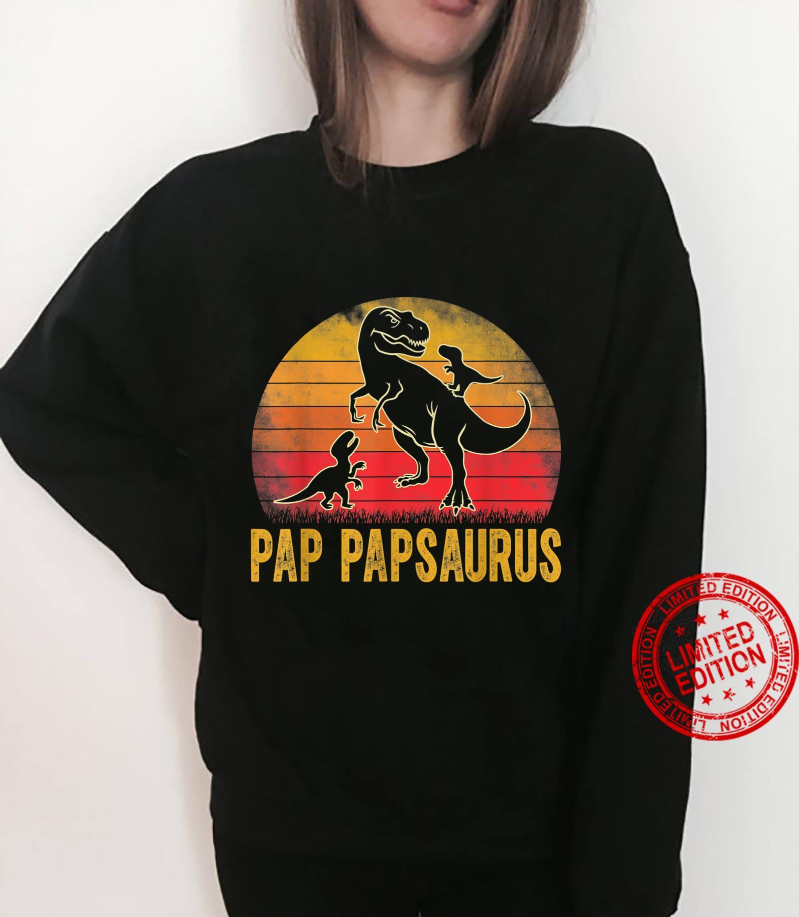 Pap Papsaurus TRex Dinosaur Matching Family Pap Pap Saurus Shirt sweater