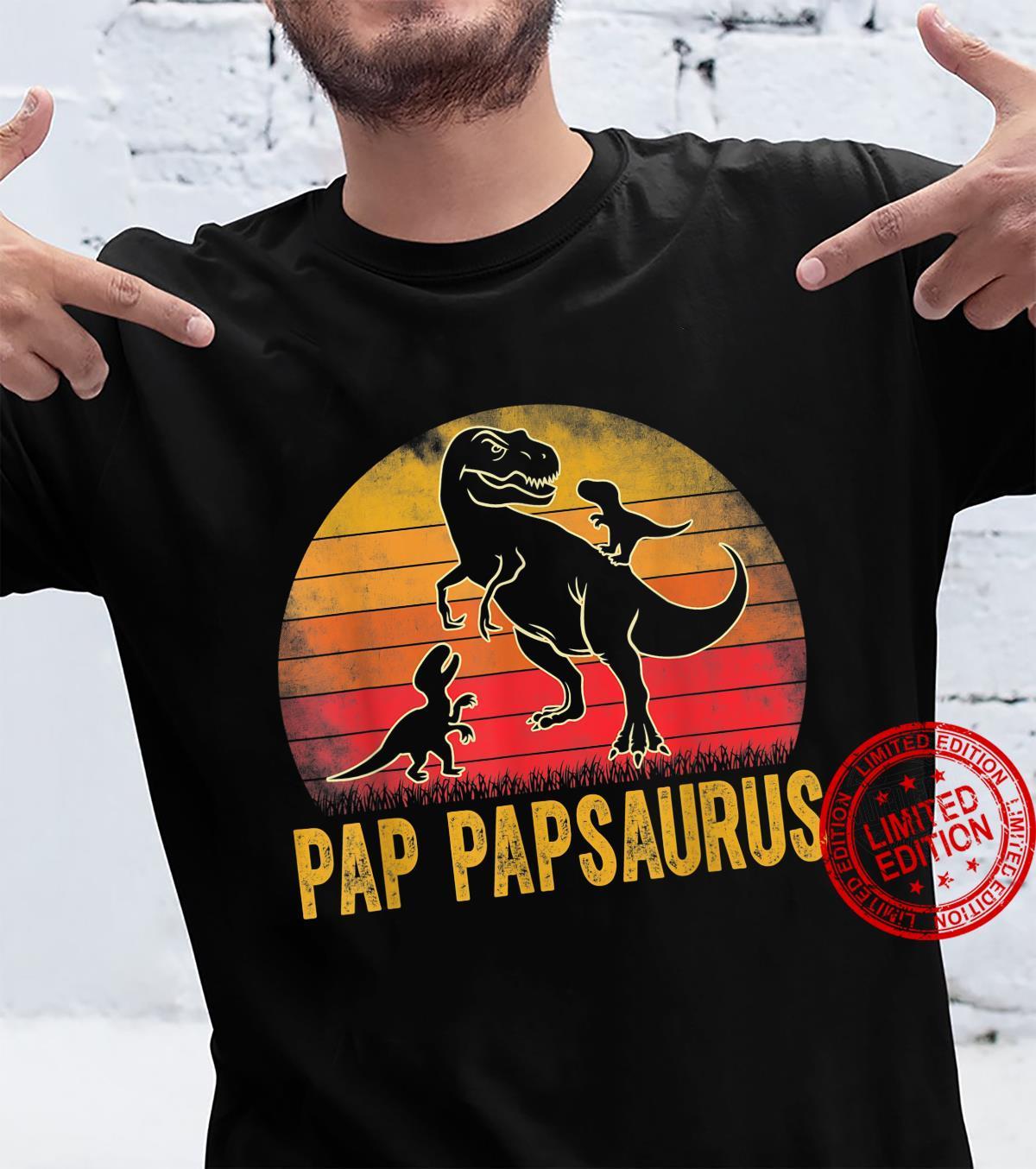Pap Papsaurus TRex Dinosaur Matching Family Pap Pap Saurus Shirt