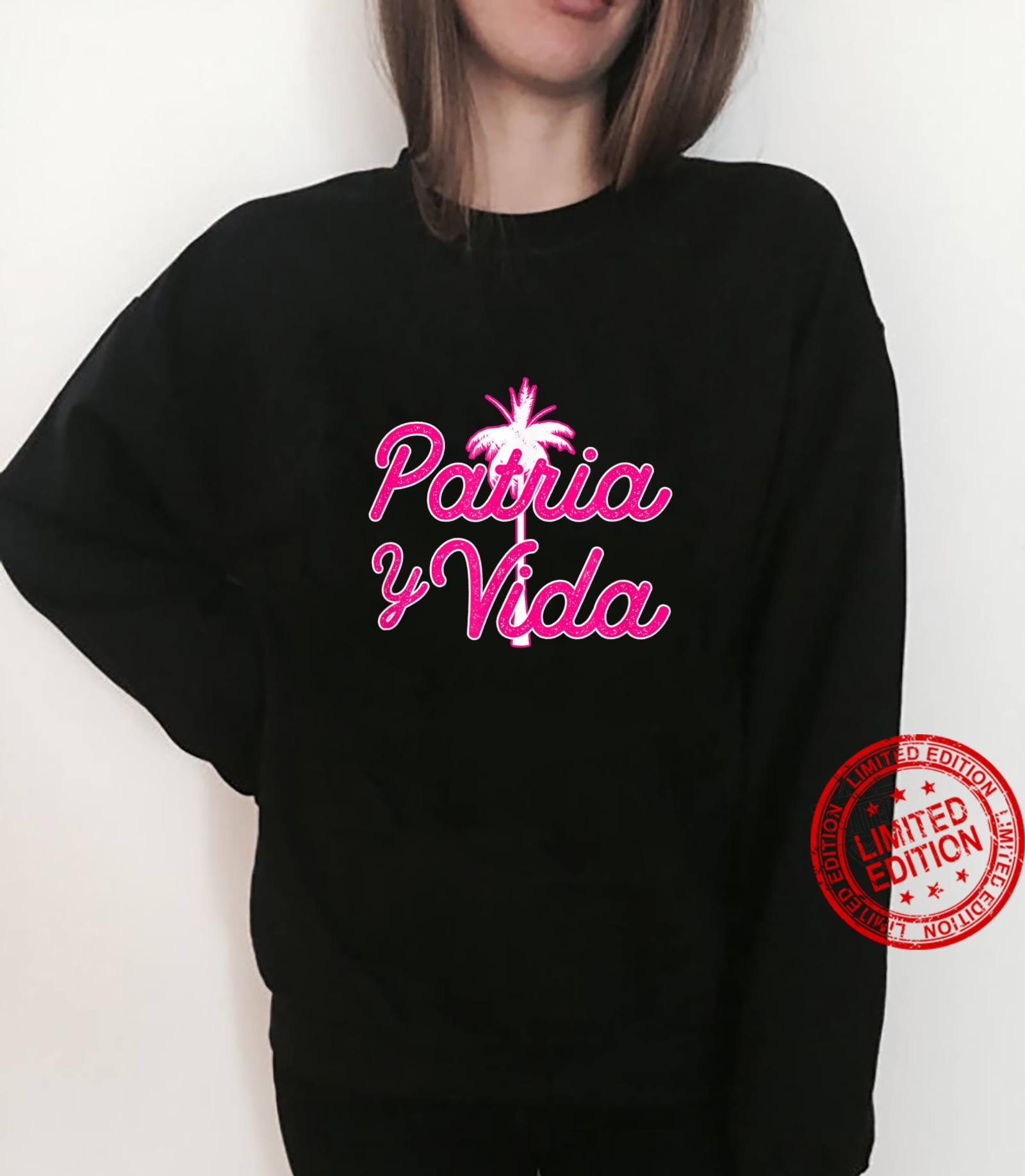 Pink Script Patria Y Vida Shirt sweater