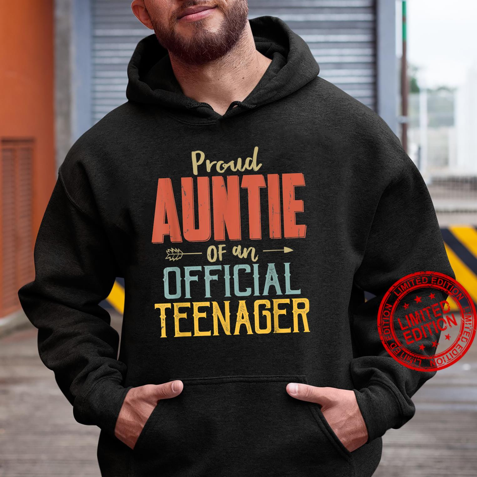 Proud Auntie Of Officialnager 13Th Birthday 13 Yrs Old Shirt hoodie