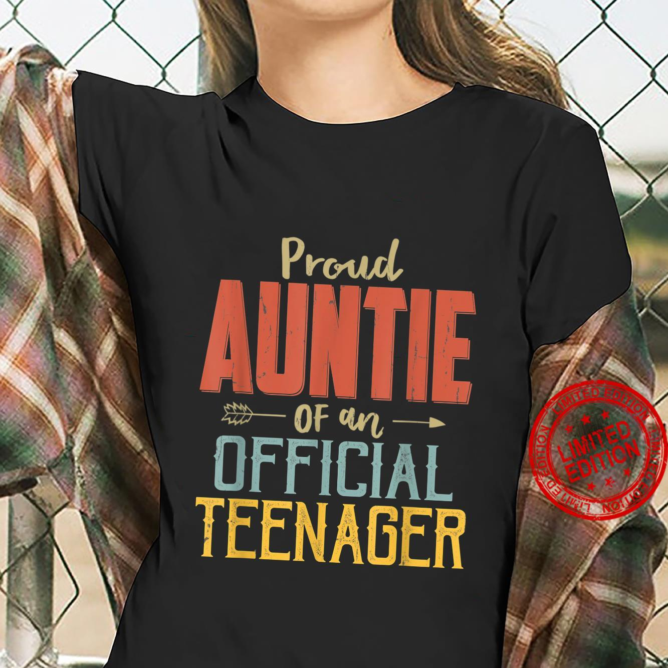Proud Auntie Of Officialnager 13Th Birthday 13 Yrs Old Shirt ladies tee