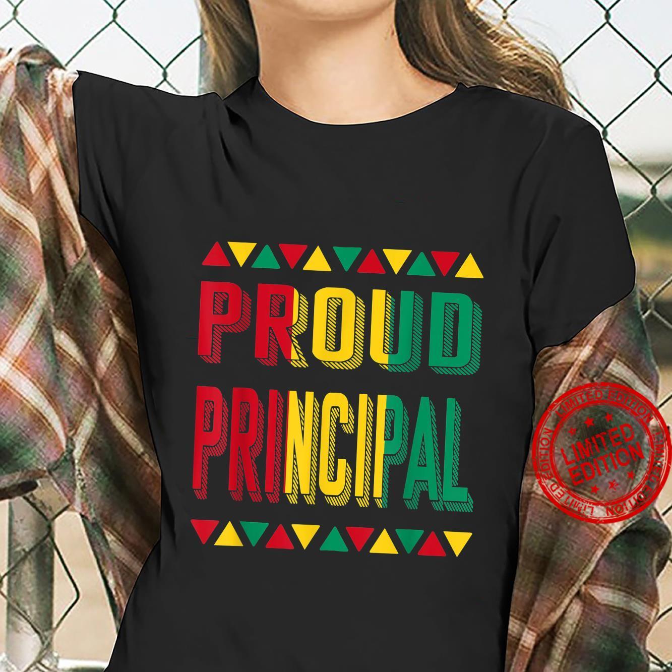 Proud Principal BHM Pride African American Cool Shirt ladies tee