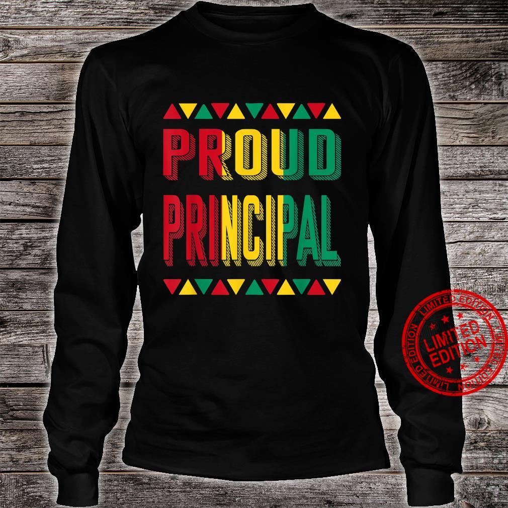 Proud Principal BHM Pride African American Cool Shirt long sleeved