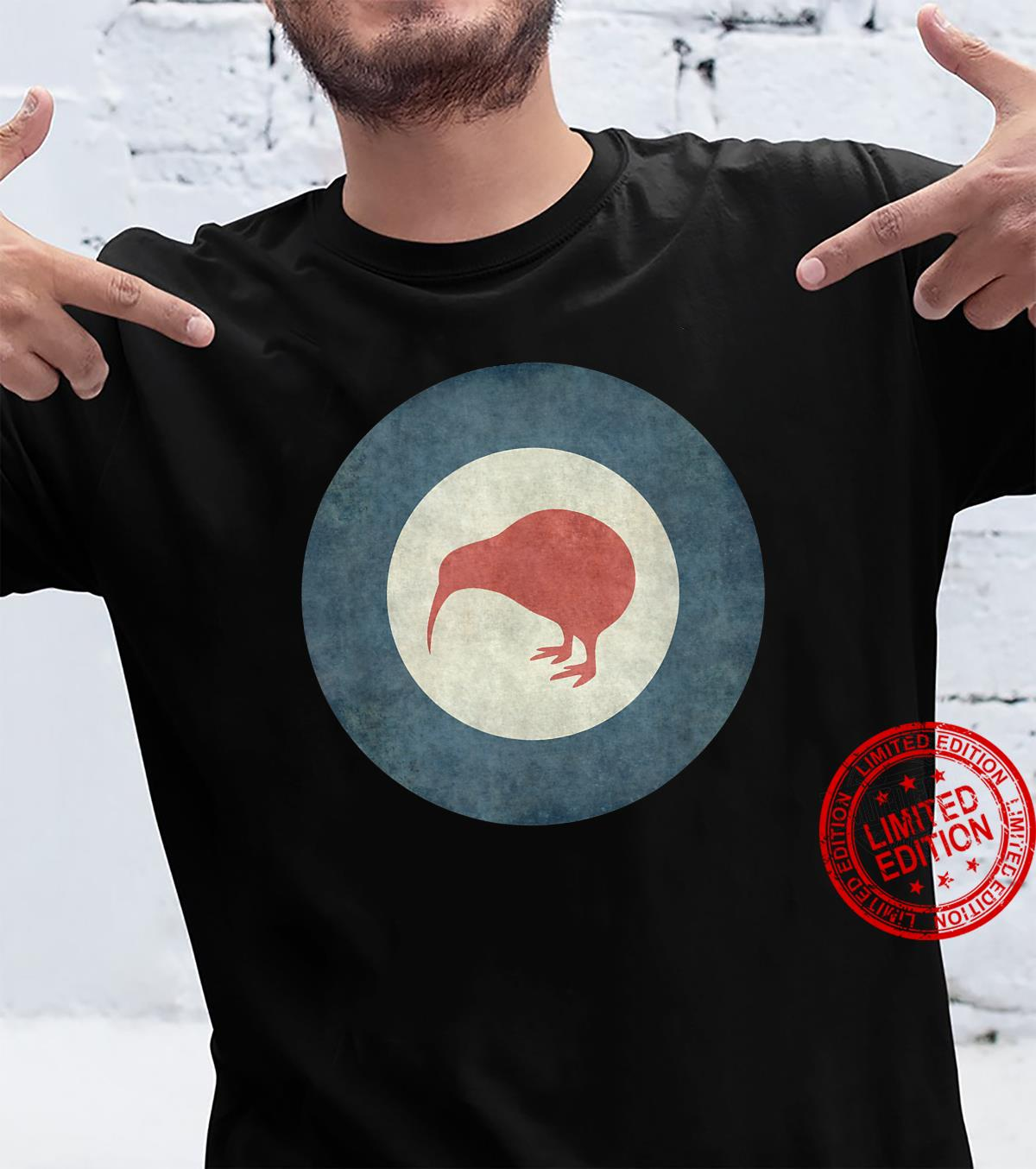 Stylized air force Roundel of New Zealand Grungy Shirt