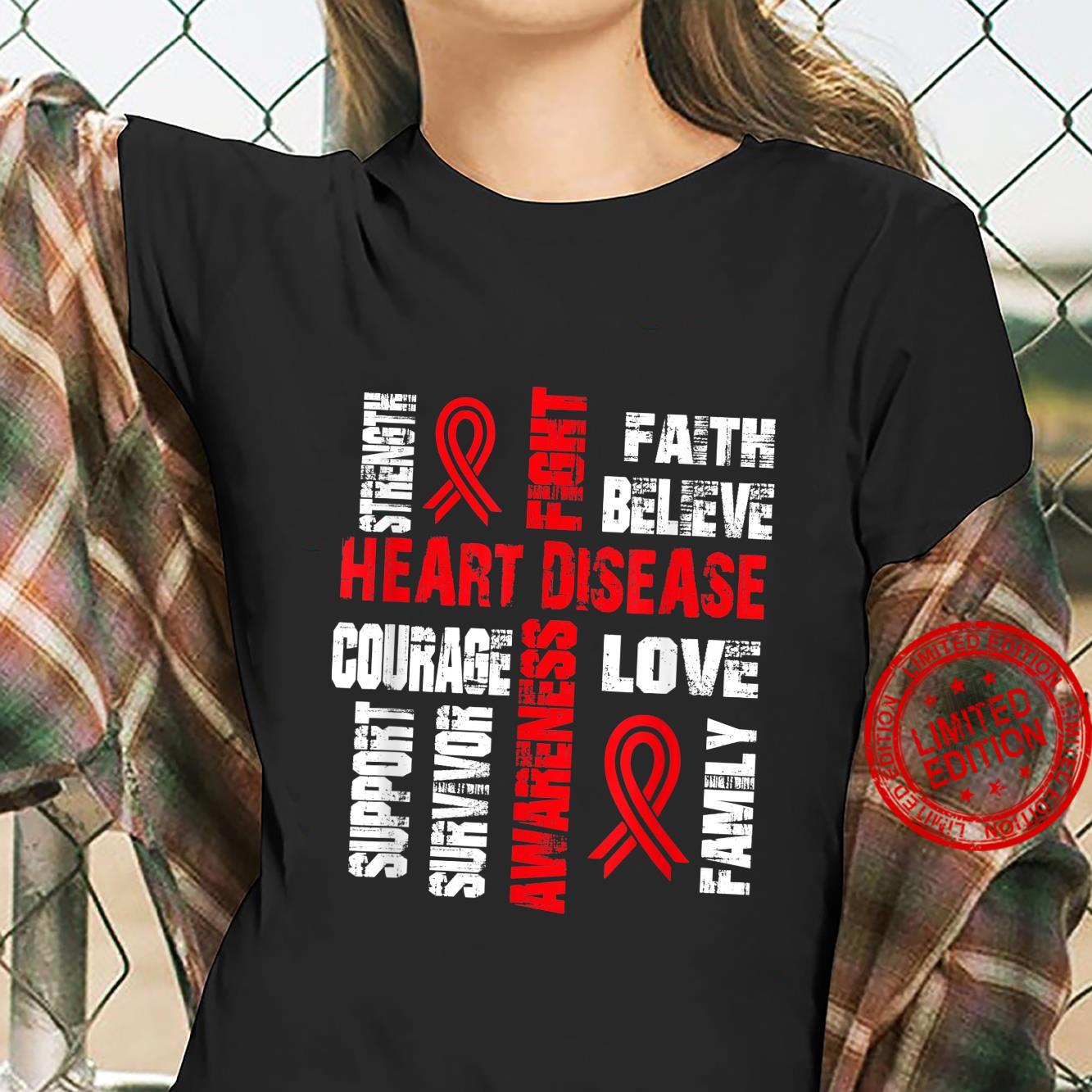 Support believe and fight HEART DISEASE Shirt ladies tee