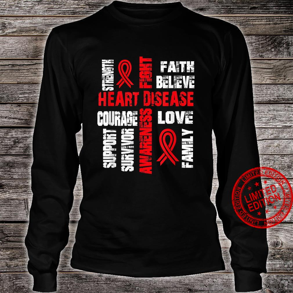 Support believe and fight HEART DISEASE Shirt long sleeved