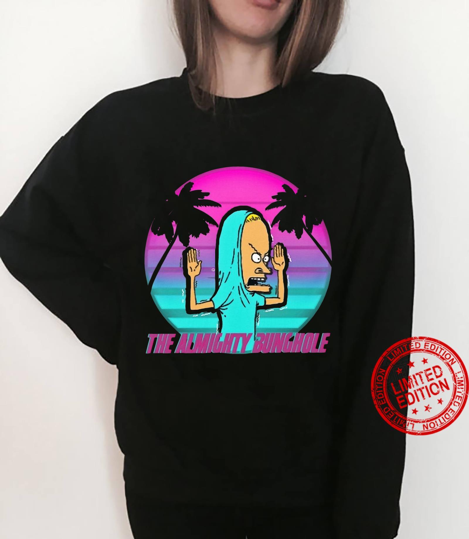 The Almighty Bunghole Beavis Purple sunset on palm shirt sweater