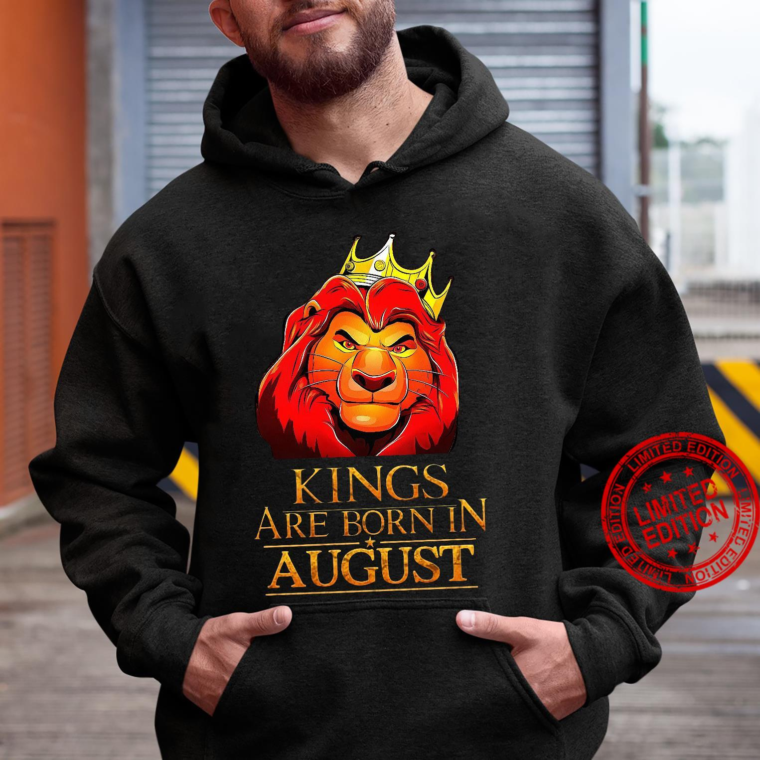 The Lion King Kings Are Born In August Shirt hoodie