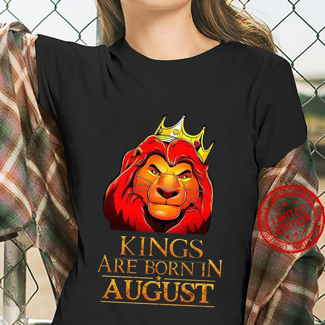 The Lion King Kings Are Born In August Shirt ladies tee
