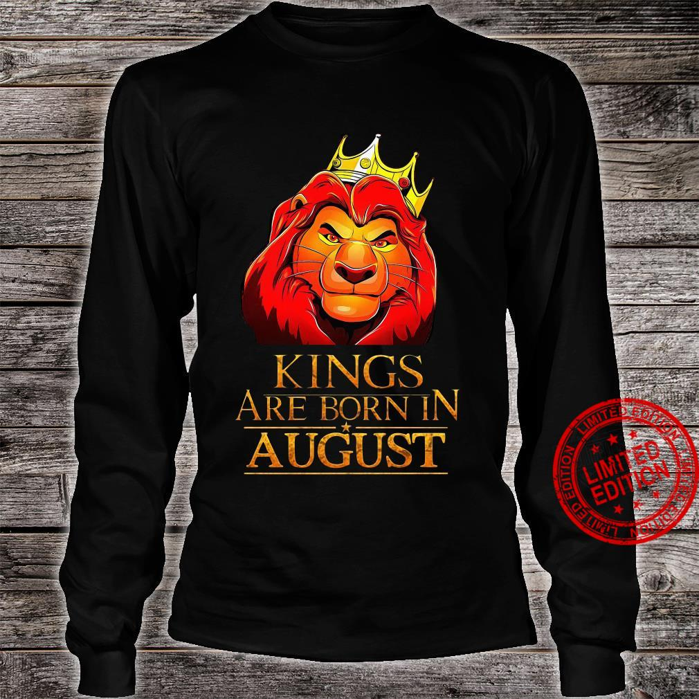 The Lion King Kings Are Born In August Shirt long sleeved
