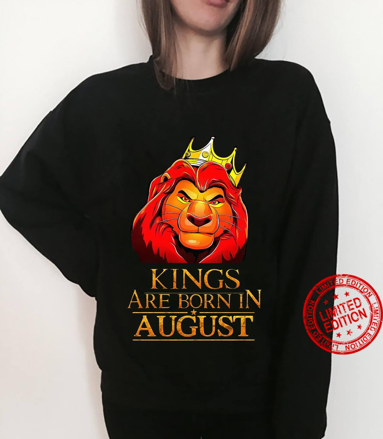 The Lion King Kings Are Born In August Shirt sweater