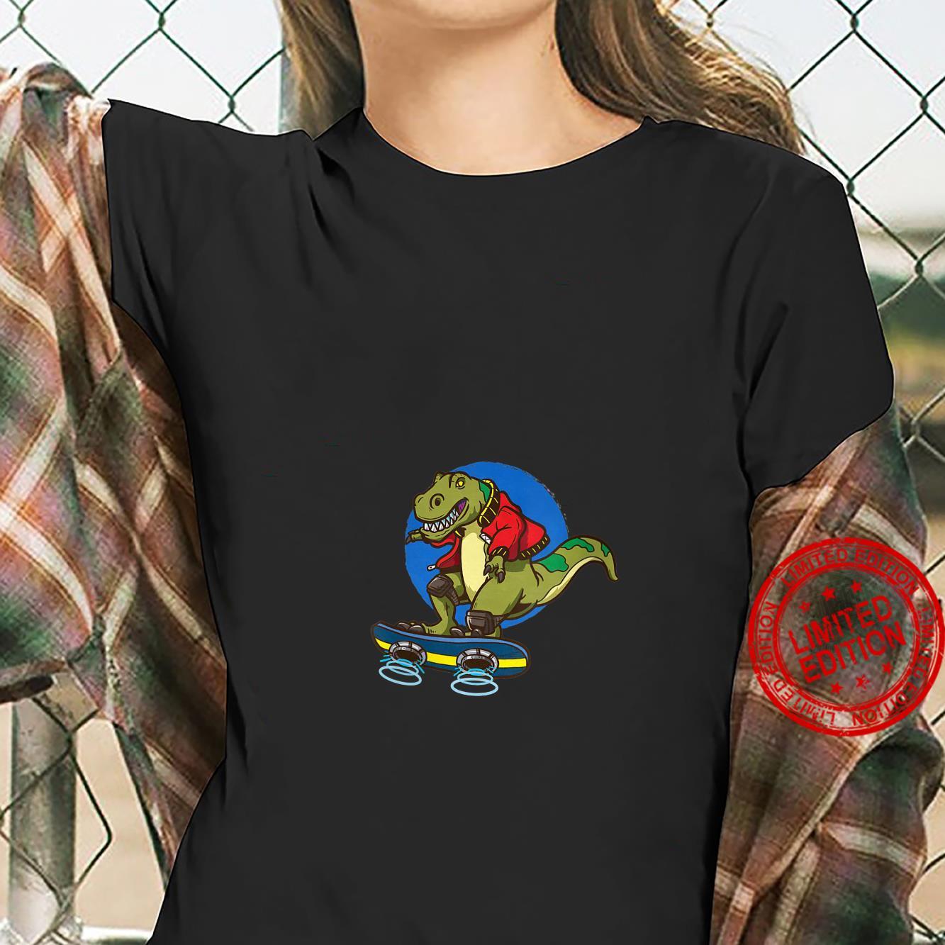 Womens Hoverboard TRex Skating Shirt ladies tee