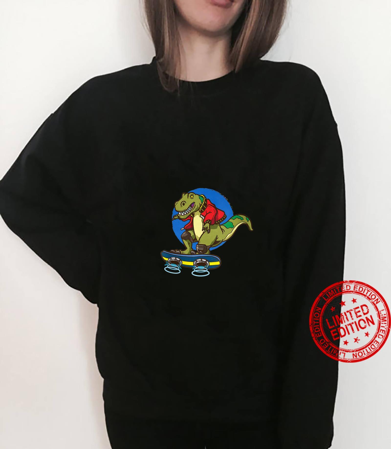 Womens Hoverboard TRex Skating Shirt sweater