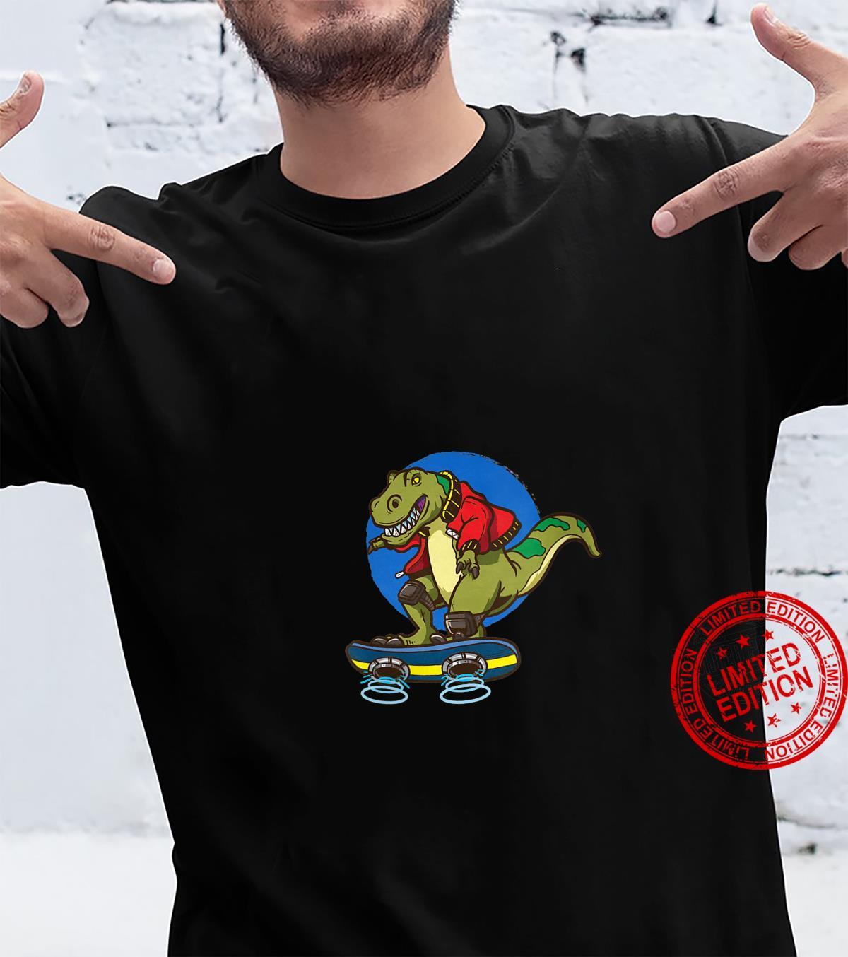 Womens Hoverboard TRex Skating Shirt