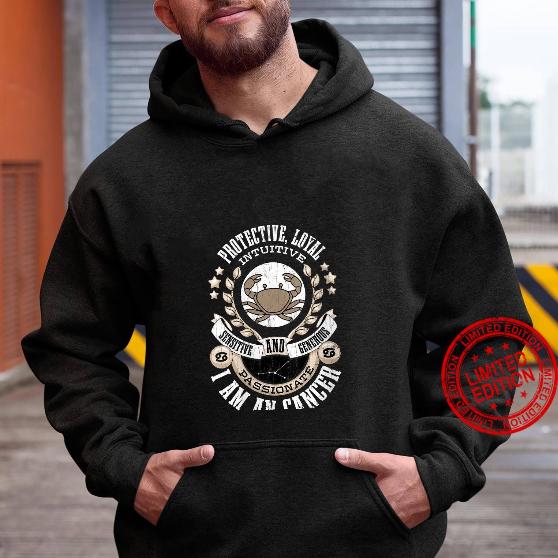 Womens I Am A Cancer Zodiac Sign Shirt hoodie