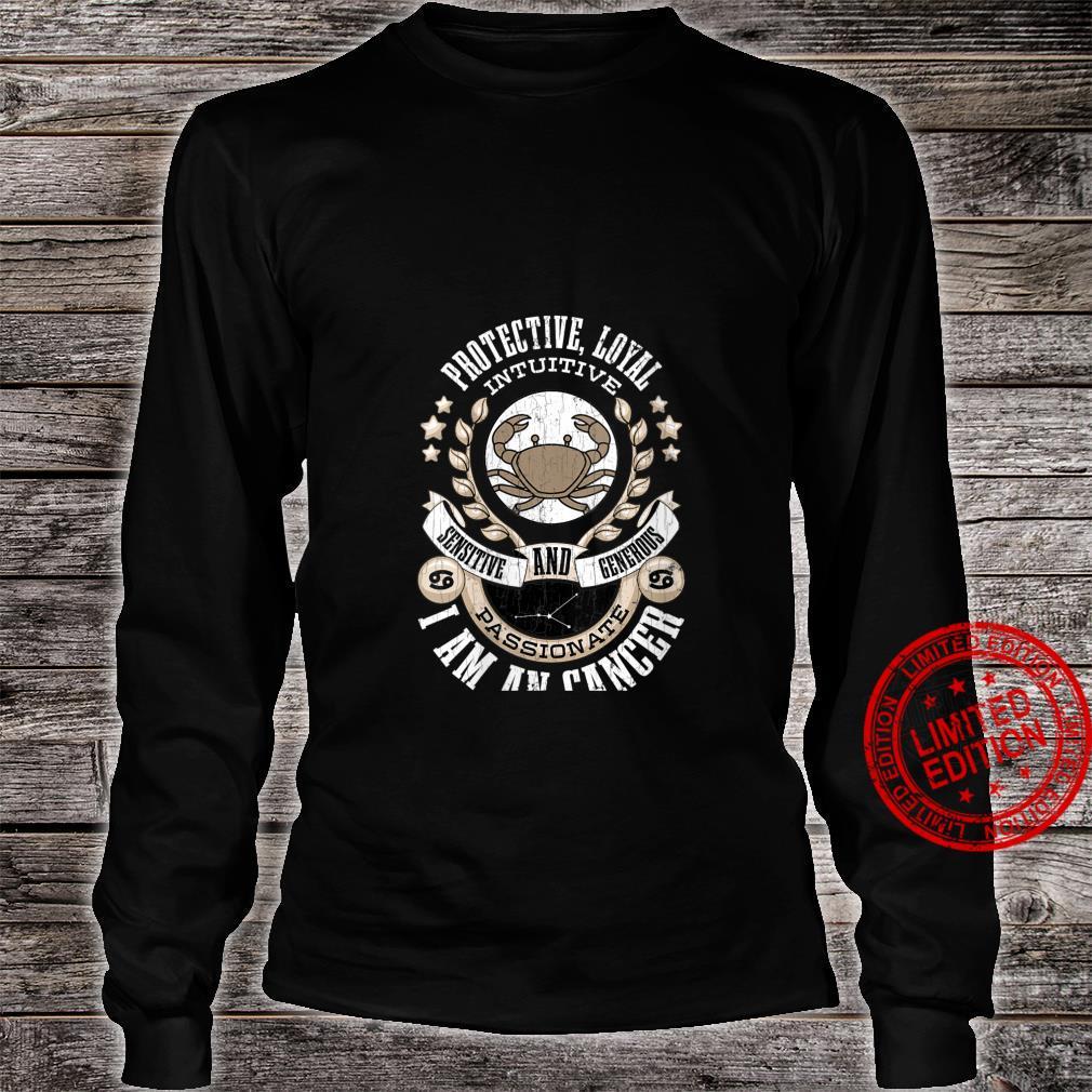 Womens I Am A Cancer Zodiac Sign Shirt long sleeved