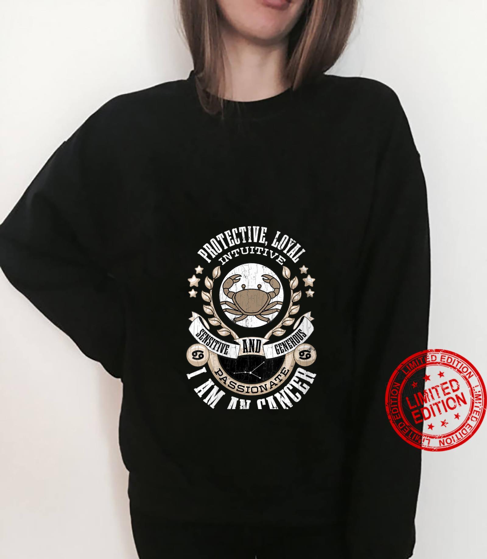 Womens I Am A Cancer Zodiac Sign Shirt sweater