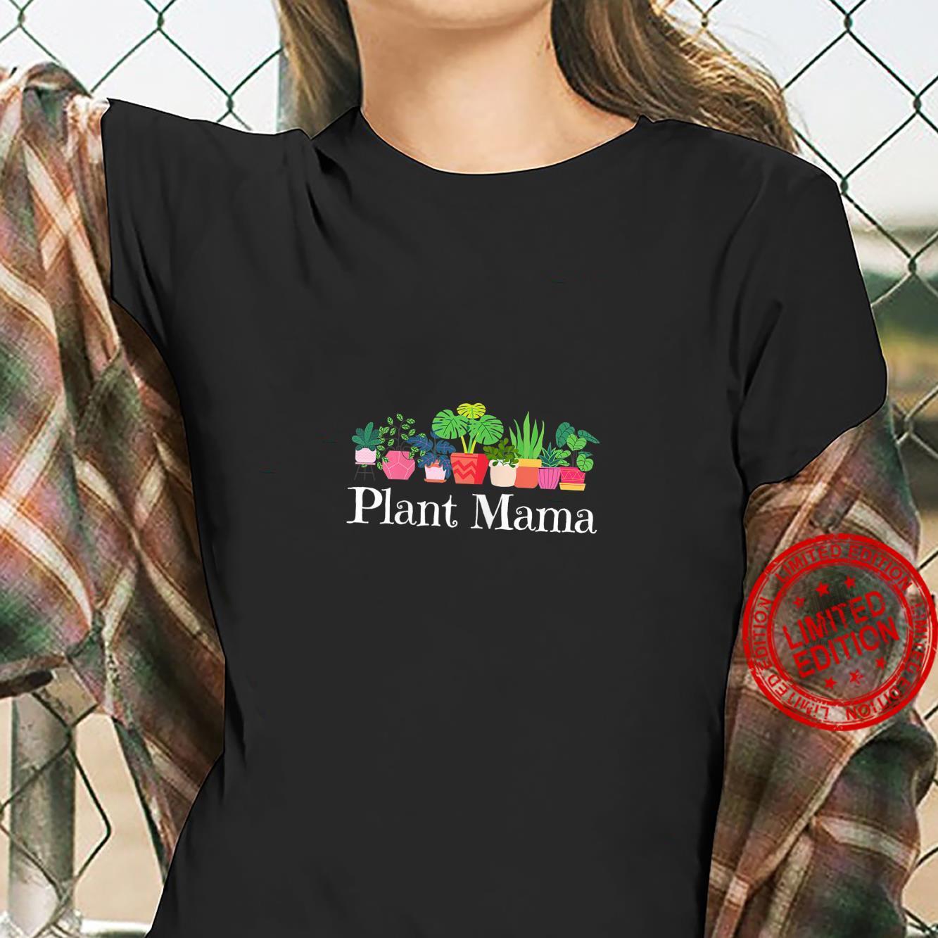 Womens Plant Mama House Plant Hobbyist Boho Bohemian Mom Spring Shirt ladies tee