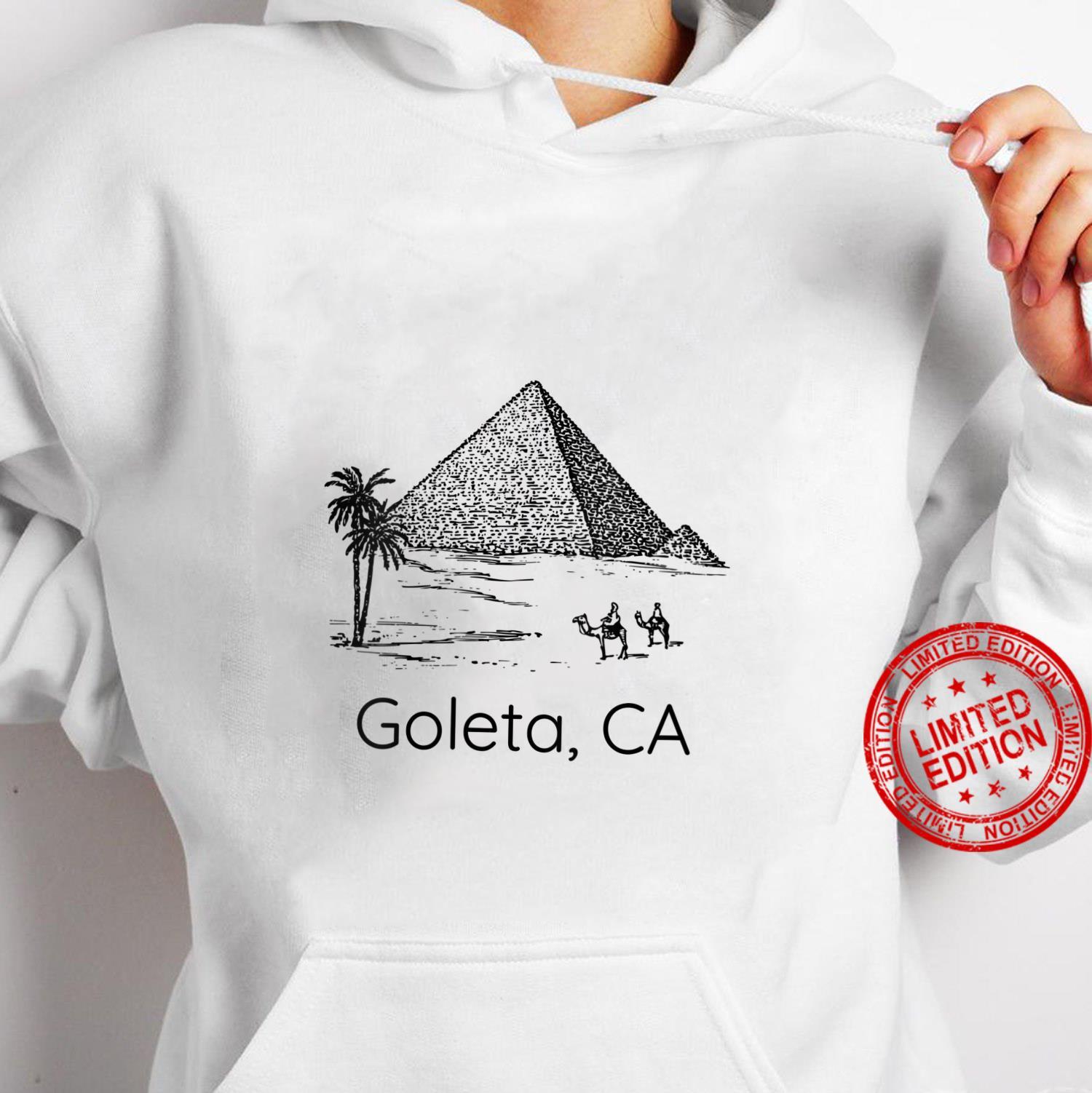 Womens Pyramid Goleta CA Bad Geography Stupid Joke Shirt hoodie
