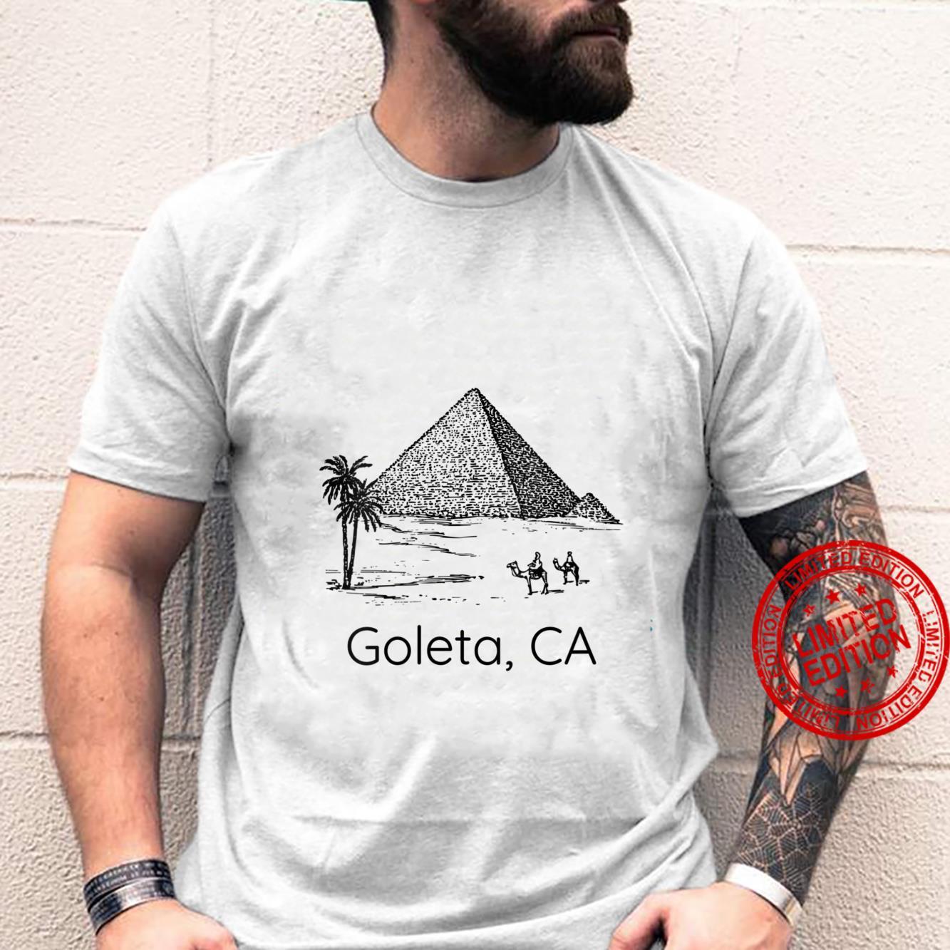 Womens Pyramid Goleta CA Bad Geography Stupid Joke Shirt