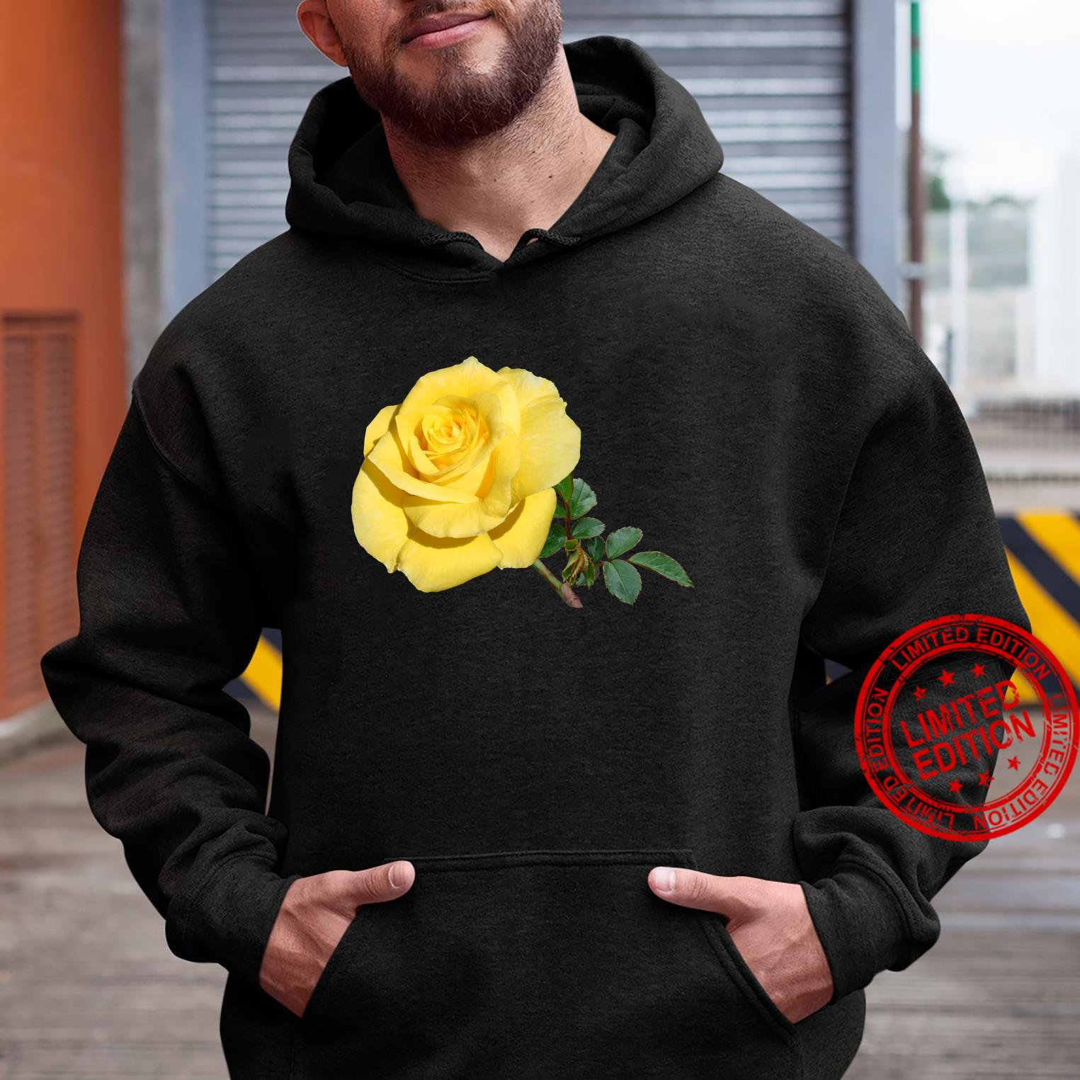 Yellow Rose Botanical Flower Shirt hoodie