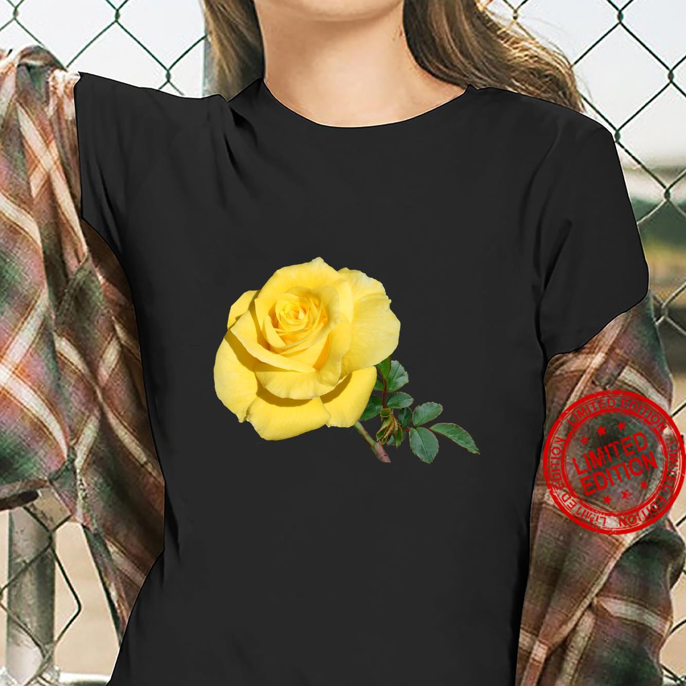 Yellow Rose Botanical Flower Shirt ladies tee