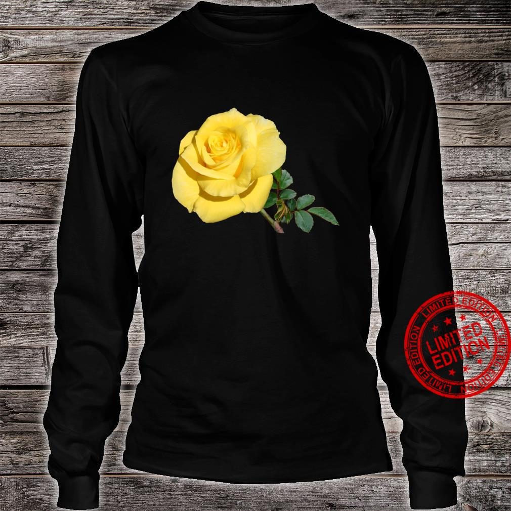 Yellow Rose Botanical Flower Shirt long sleeved