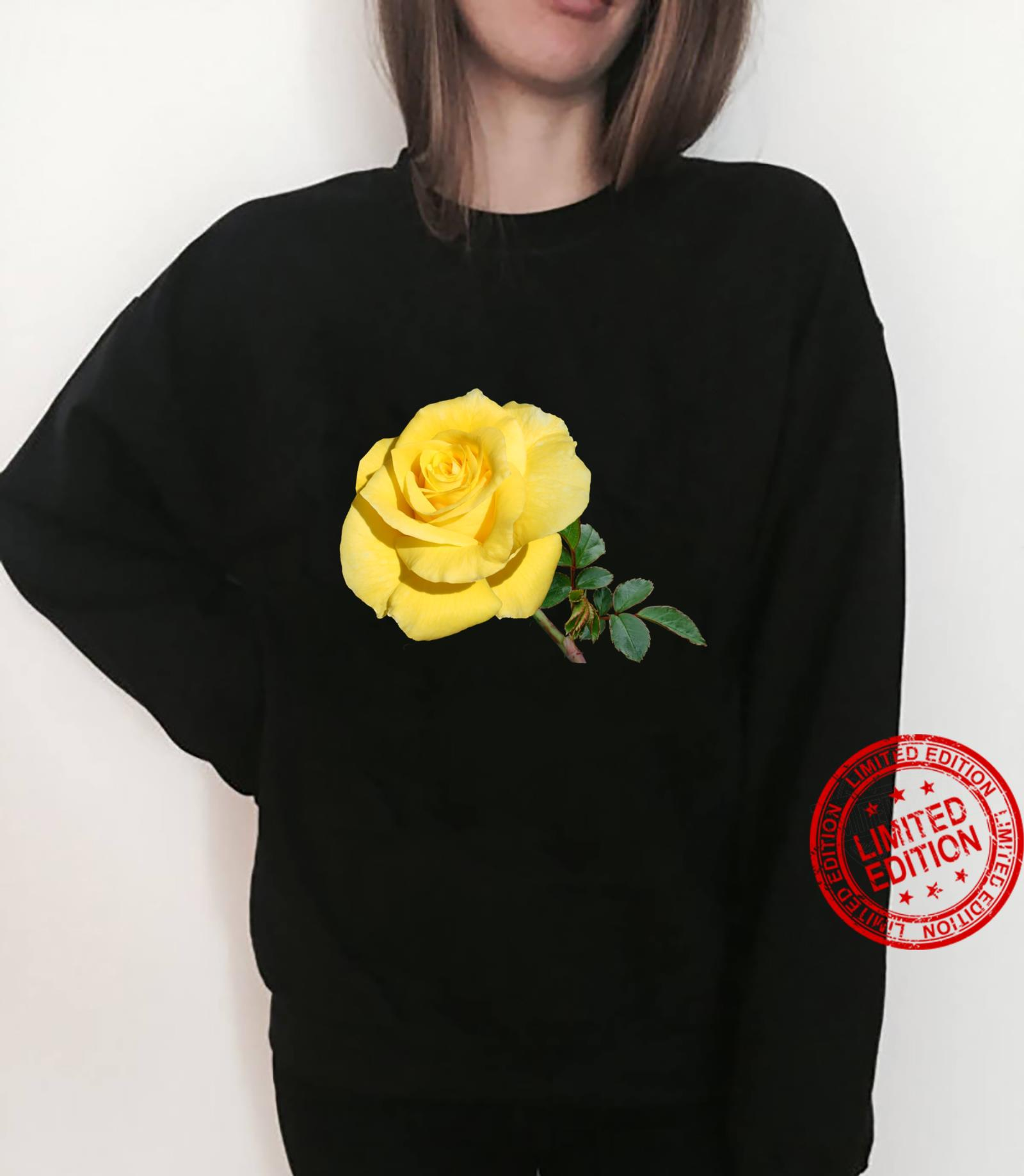 Yellow Rose Botanical Flower Shirt sweater