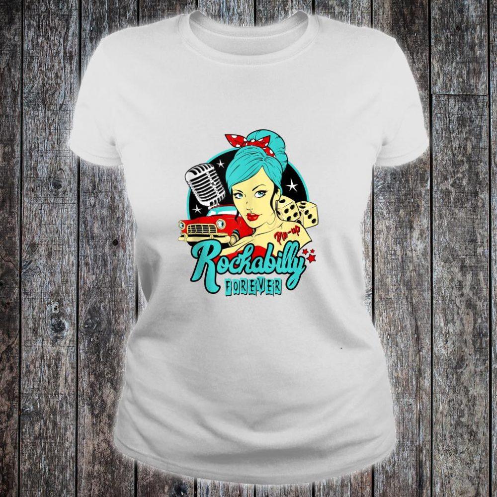 50s Rockabilly Clothing 1950s Sock Hop Swing Greaser Rocker Shirt ladies tee