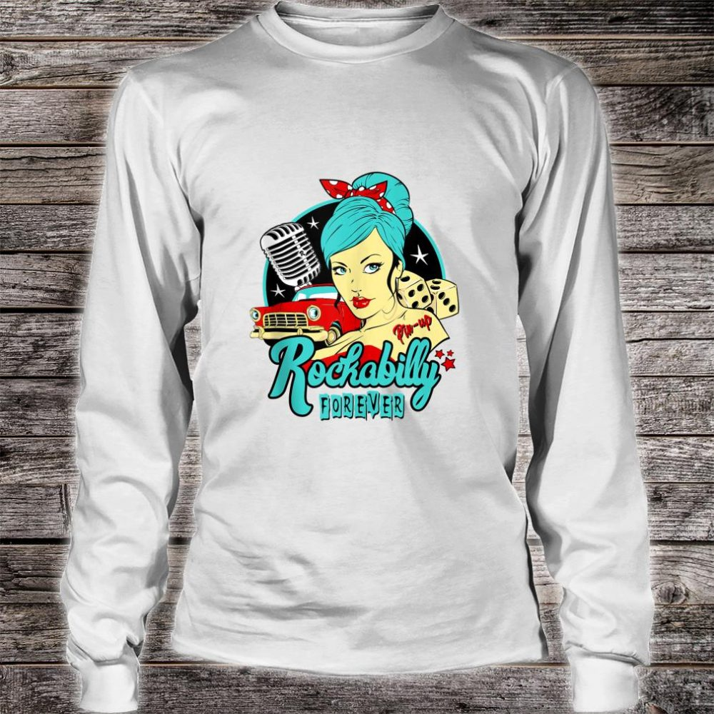 50s Rockabilly Clothing 1950s Sock Hop Swing Greaser Rocker Shirt long sleeved